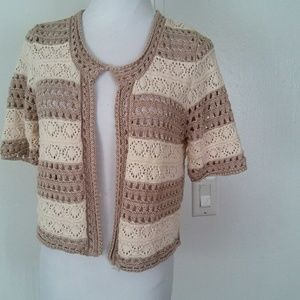 Cato short sleeve shrug womens sweater